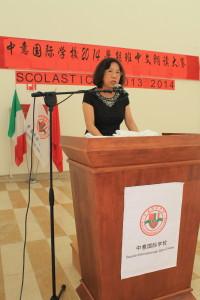 中意国际学校校长李雪梅博士发表讲话